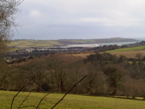 view from prideaux castle
